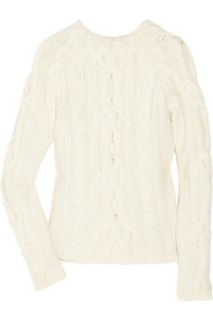 Bally Cable knit merino wool and cashmere blend sweater   60% Off
