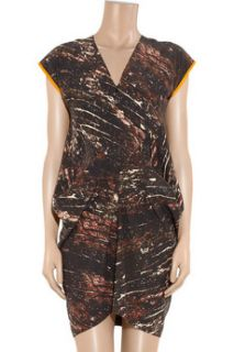Zero+MariaCornejo Toia printed silk mini dress   60% Off