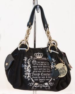 Juicy Couture Black Royal Fluffy Fairy tale Handbag NWT MSRP $175