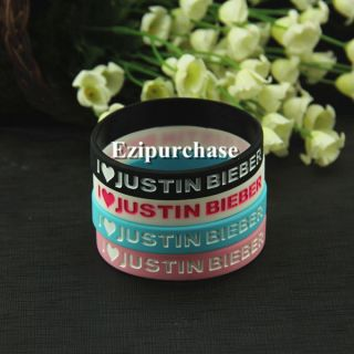 Love Justin Bieber Supper Star Silicone Rubber Wristband Bracelet