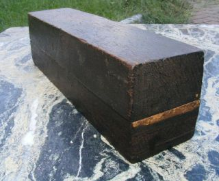 Antique Sharpening Stone in Wood Box