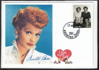 Lucille Ball   I Love Lucy   Postal Tribute     TV & Movie Star