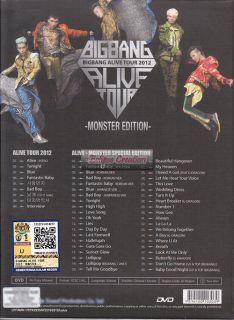 BIGBANG Alive Tour 2012 Monster Edition 2 DVD Brand New