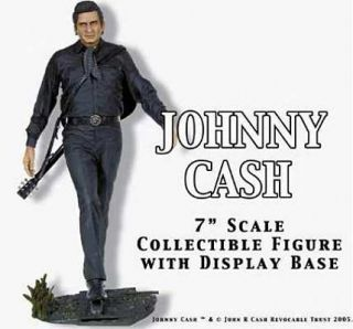 Johnny Cash ® Figure Guitar Railroad Track as Stage