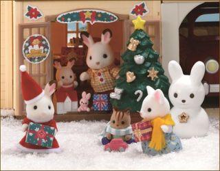 JP Sylvanian Families Happy Christmas Set with Rabbit Santa Doll SE