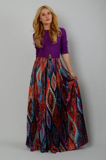 Vintage 70s Bohemian Paisley Palazzo Jumpsuit M Pants Wide Leg Dress