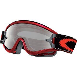 Oakley Moto x MX L Frame Goggle Metallic Red Clear New