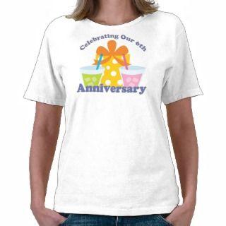 Celebración de nuestro 6to regalo del aniversario camisetas de