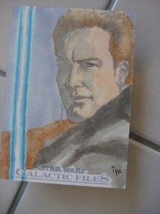 Galactic Files Original Sketch Card Ian Yoshio Roberts Artist