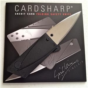 Ian Sinclair Cardsharp 2 Satin Blade Credit Card Folding Safety Knife