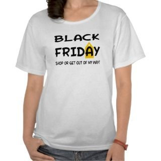 Funny Black Friday Red Tag on Text Shirts