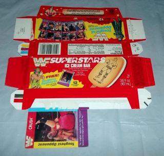 Vintage WWF Superstars Ice Cream Bars Box w Crush Card 1993 Undertaker