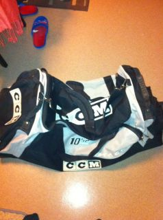 CCM 10 52 Tacks Oversized Ice Roller Hockey Gear Bag Black and Silver