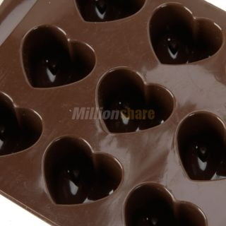 Shape Silicone Ice Cube Chocolate Cake Jelly Mold Tray Candy US