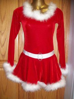 MS Santa Claus Red Velvet Ice Skating Dress AXL