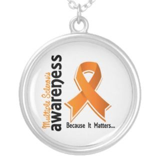 Multiple Sclerosis Awareness 5 Personalized Necklace