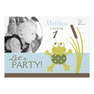 Frog Birthday Party Invitations, 351 Frog Birthday Party Announcements