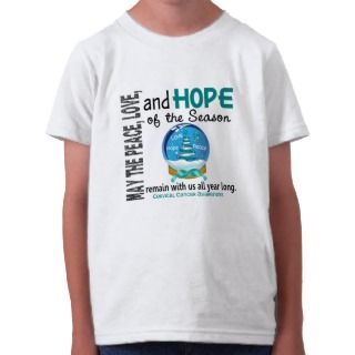 Christmas Holiday Snow Globe 1 Cervical Cancer Tee Shirts