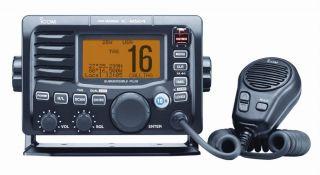 Icom IC M504A Marine VHF Radio Hailer DSC Black