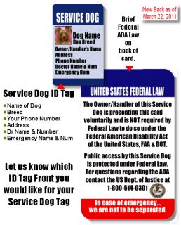 how to get a service dog tag