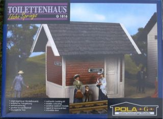 Pola G Scale Trains Idaho Springs Outhouse Building Kit