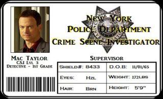 New York Police Department Crime Scene Investigator Mac