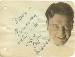 IDA LUPINO + RICHARD DIX VINTAGE 1930s ORIGINAL SIGNED ALBUM PAGE