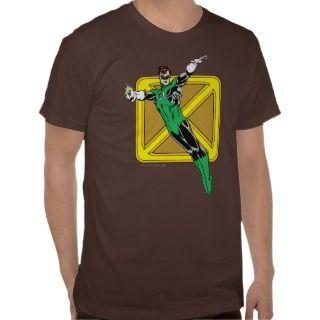 Linterna verde con el fondo del logotipo tee shirts de