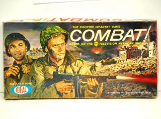 Ideal Combat Board Game with Vic Morrow 1963