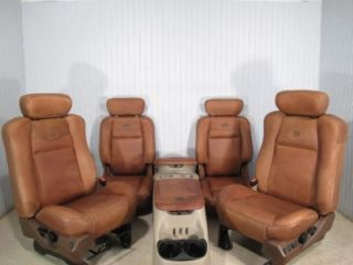 Ford F150 King Ranch F 150 Front Leather Seats Rear Bucket Seat Center