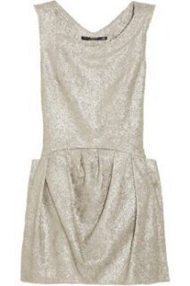 Theyskens Theory Dilliam metallic brocade mini dress