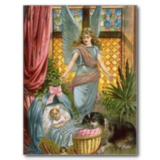 Vintage Guardian Angel Postcard