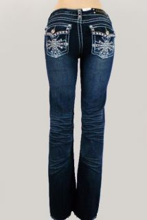 La Idol Jeans Crystal Cross Plus Size Bootcut 17 19 21