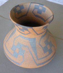 Ceramic Pima Indian Vase by David Salk 9 inches High