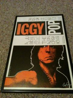 Iggy Pop Concert Poster Signed Jagmo 2nd Printing