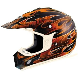 THH TX 12 Ignite Black Orange Full Face Dirt Bike Motorcross Helmet