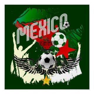 Mexico el Tri soccer ball Mexican flag gear Print
