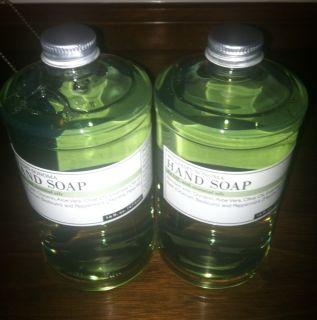NEW Williams Sonoma BASIL w essential oils 16 oz Hand Soap w pump 2