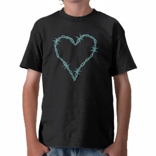 Barbed Wire Heart Shirts
