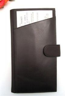 Ili Chocolate Leather Passport Travel Wallet Ticket Holder New