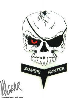 ill Gear v2 EVIL Doomsday Skull Zombie Hunter Velcro Patch GID Glow in