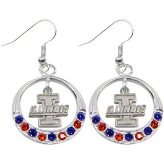 Dayna U Illinois Fighting Illini Ladies Open Drop Rhinestone Earrings