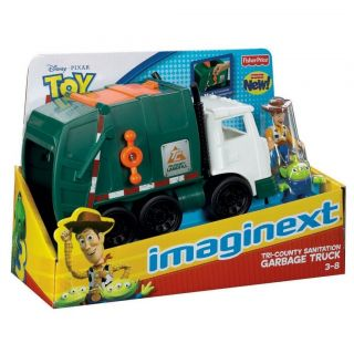 Imaginext Disney Toy Story Tri County Sanitation Garbage Truck Woody