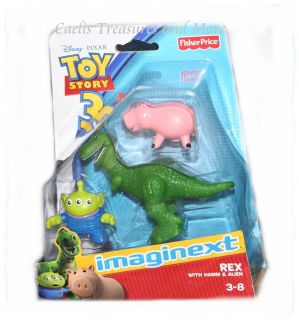 Fisher Price Imaginext Toy Story 3 Rex Dinosaur w Hamm Alien Cute Set