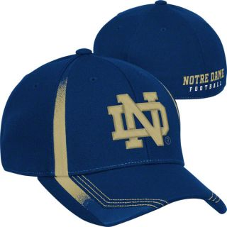 Notre Dame Fighting Irish Adidas Navy Player Structured Flex Hat