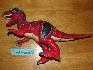 Imaginext Razor The T Rex Fisher Price Dinosaur Toy Red Blue NO SOUND