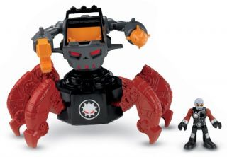 Features of Fisher Price Imaginext Robot Police   Motorized Villain