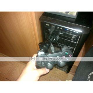 Mando de Control con Vibración Con Cable USB para el PS3 o PC   Negro