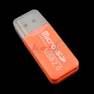 Orange USB 2.0 Micro SD TF Memory Card Reader Adapter 4GB 8GB