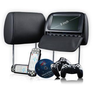 L0237 2x9 HD LCD in Car Pillow Headrest DVD Player IR FM Digital